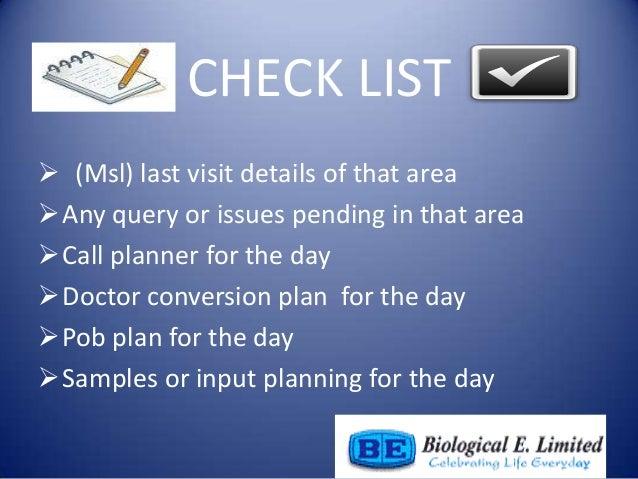 Day of a Medical Representative Slide 3