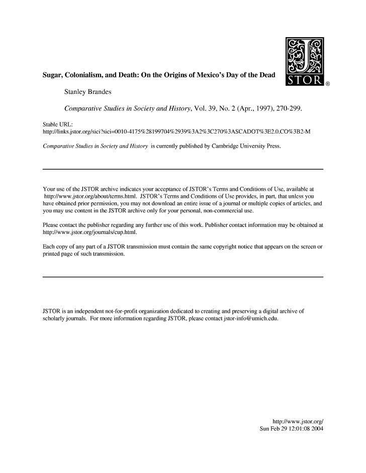 of the dead essay