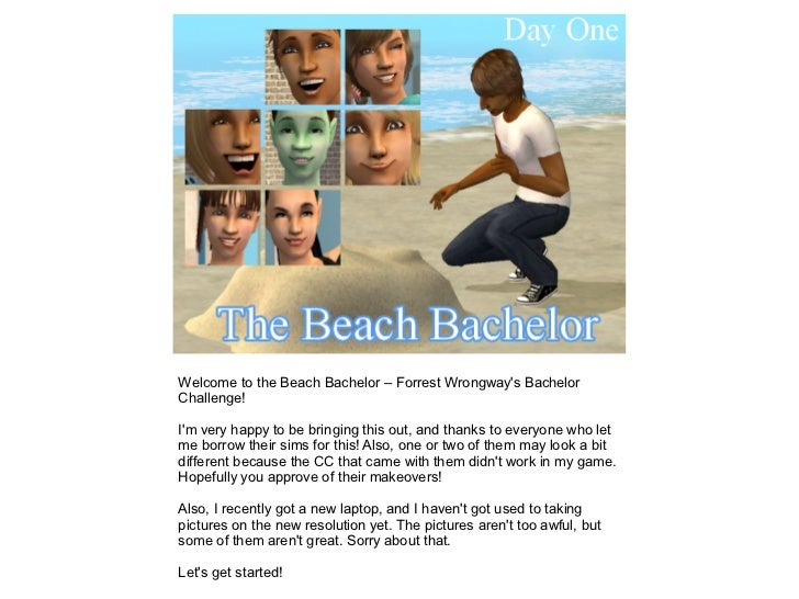 Welcome to the Beach Bachelor – Forrest Wrongways BachelorChallenge!Im very happy to be bringing this out, and thanks to e...