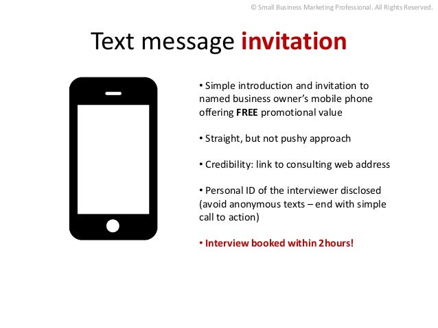 Day one results with content marketing making leaders of business text message invitation stopboris Images