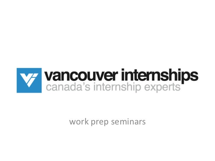 work prep seminars<br />