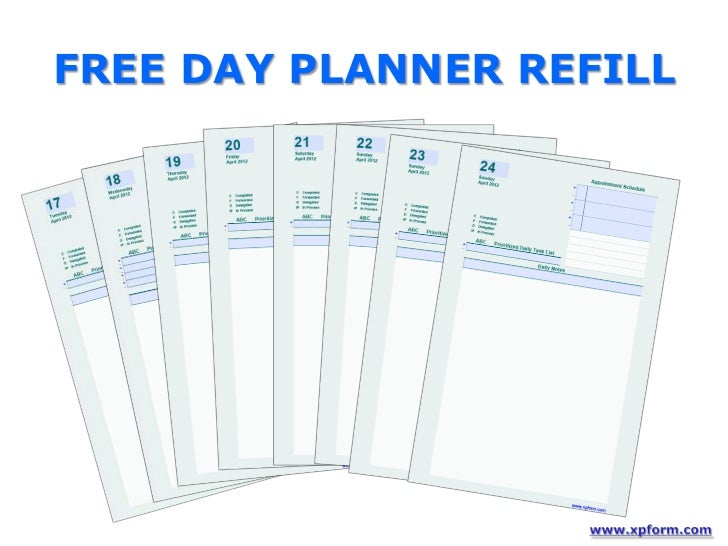 free day planner