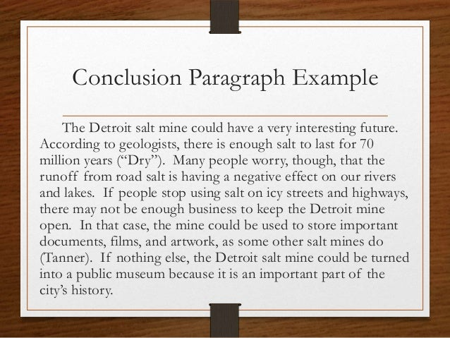 how to write a conclusion for a project