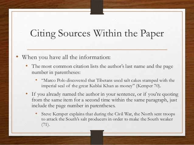 research paper sources page Citing references in scientific research papers cite references in scientific research papers in order to acknowledge your sources and give credit where.