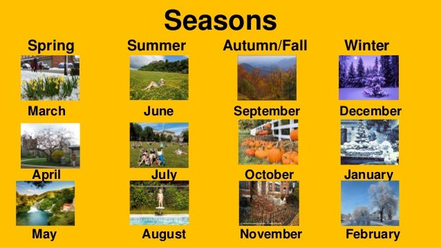 Months In Fall: Days, Months And Seasons