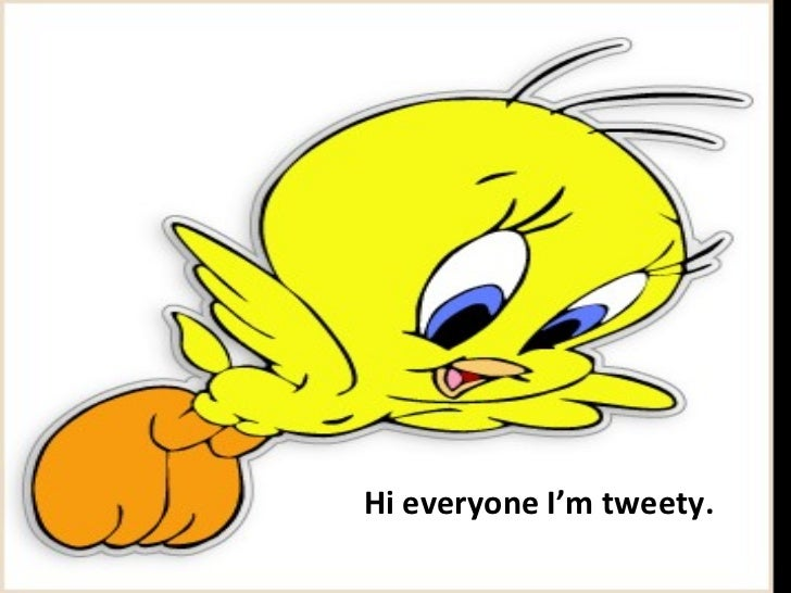 Hi everyone I'm tweety.