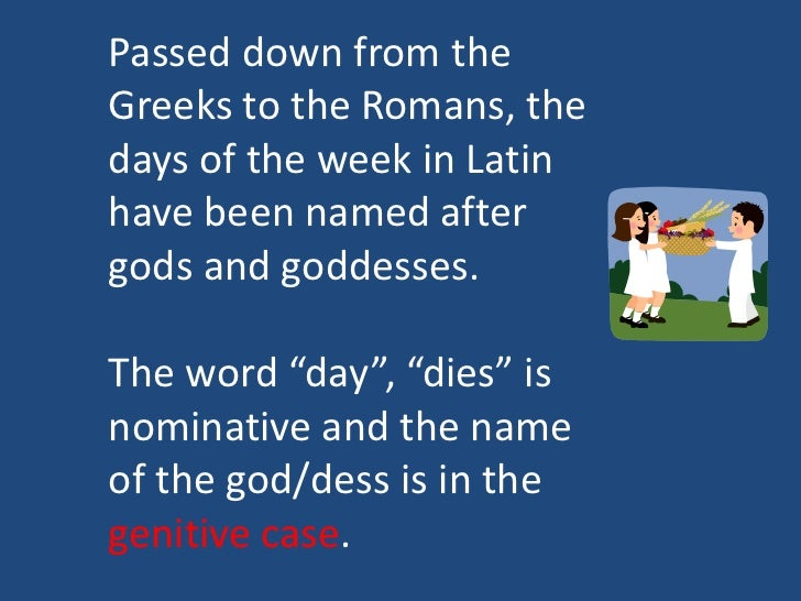 Days Of Week In Latin