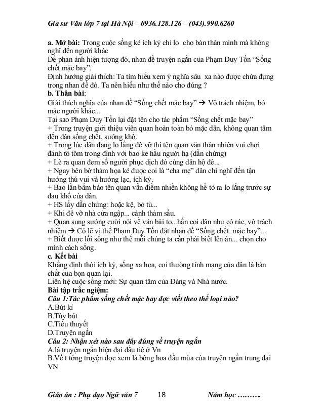 Gia sư Văn lớp 7 tại Hà Nội – 0936.128.126 – (043).990.6260 a. Mở bài: Trong cuộc sống kẻ ích kỷ chỉ lo cho bản thân mình ...