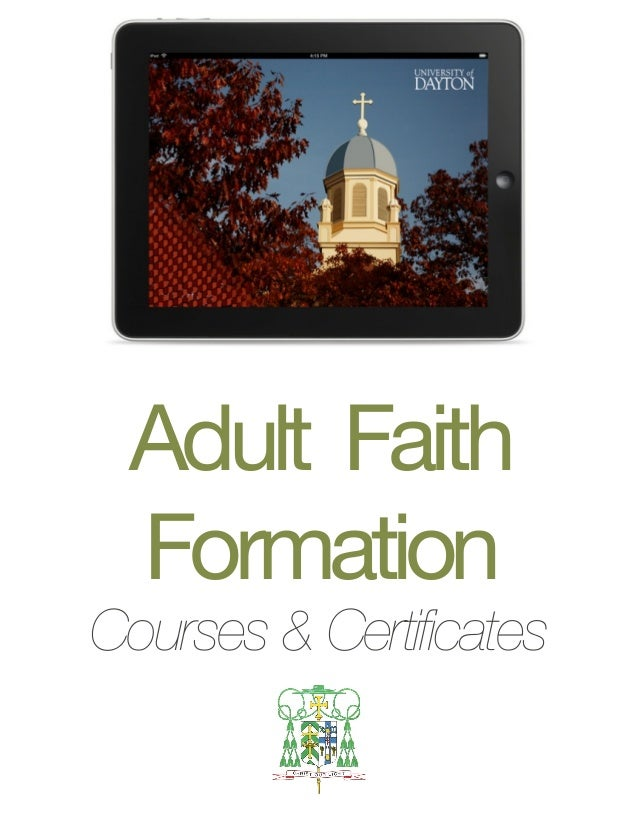 Adult Faith  Formation Courses & Certificates