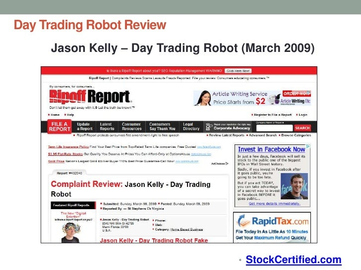 Forex robot review 2012