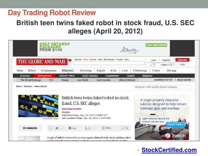 Robotic trading system review