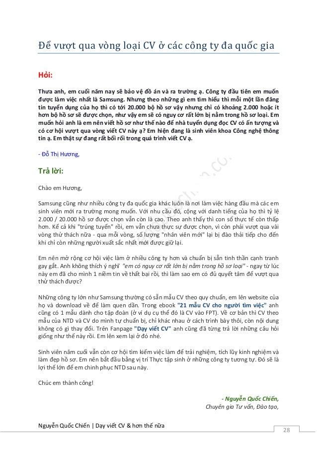 29 - Cv Va Resume Khac Nhau