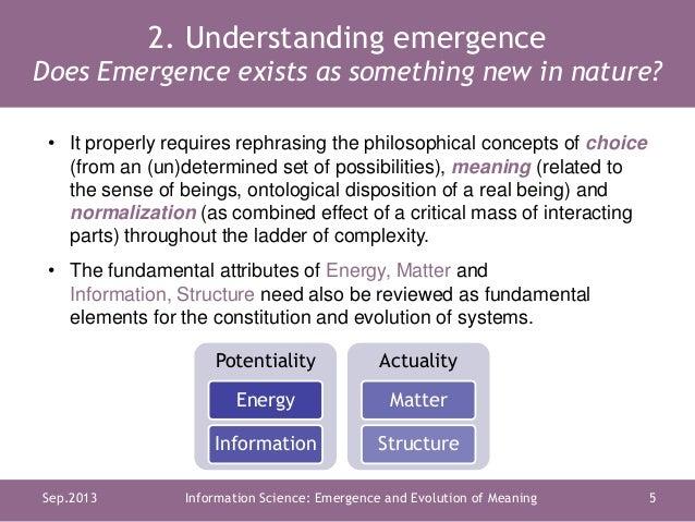 J M  Díaz Nafría: Science of Information: Emergence and