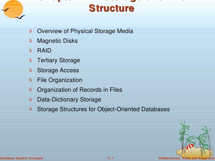 Chapter 11:  Storage and File Structure <ul><li>Overview of Physical Storage Media </li></ul><ul><li>Magnetic Disks </li><...