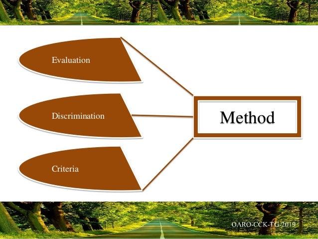 Evaluation Discrimination Criteria Method