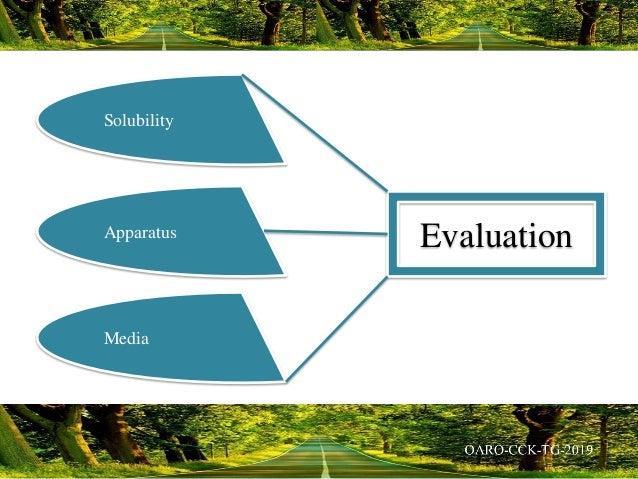 Solubility Apparatus Media Evaluation