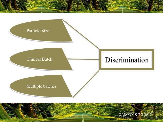 Particle Size Clinical Batch Multiple batches Discrimination