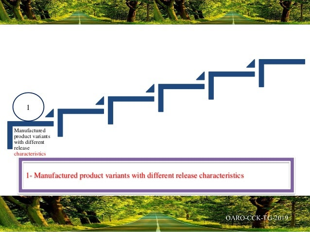 Manufactured product variants with different release characteristics 1- Manufactured product variants with different relea...