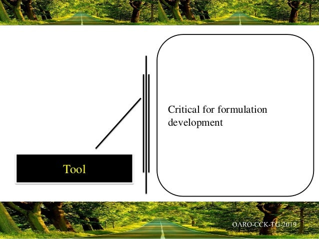 Critical for formulation development Tool