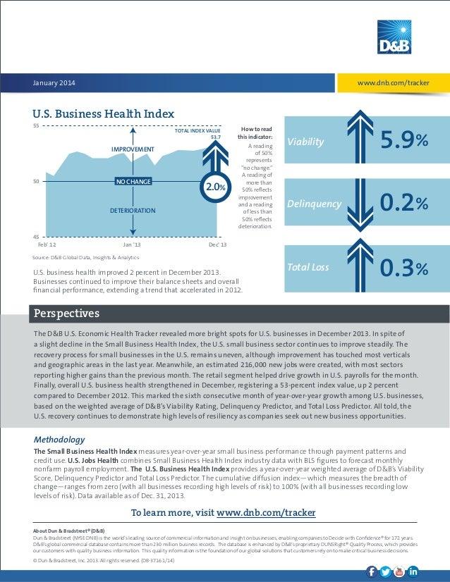D&B US Economic Health Tracker (Jan 2014) Slide 2