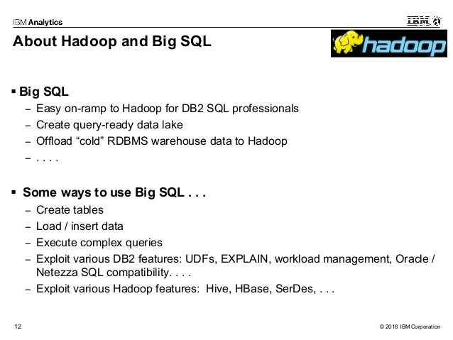 Using your DB2 SQL Skills with Hadoop and Spark