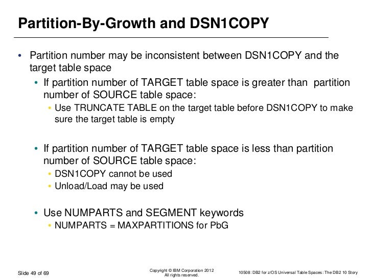 DB2 10 Universal Table Space - 2012-03-18 - no template