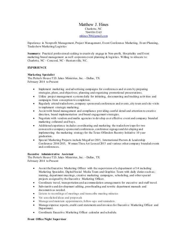 Matthew Hines - Resume (updated)