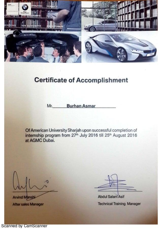 Agmc Bmw Certificate