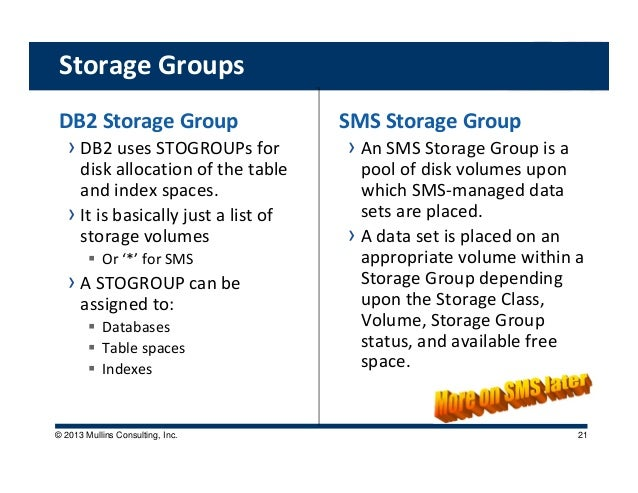 Db2 and storage management (mullins)