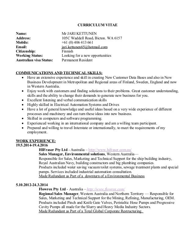 Linkedin Resume Jari Kettunen 24 April 2016