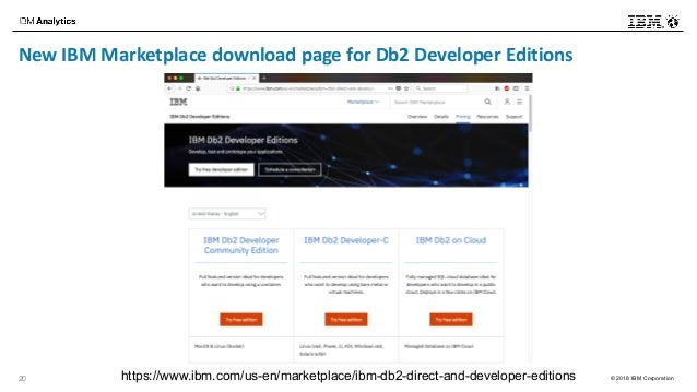 Db2 developer ecosystem