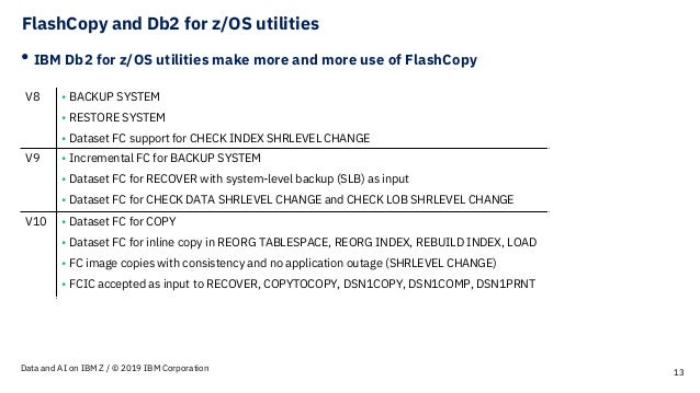 db2 for z  os and flashcopy