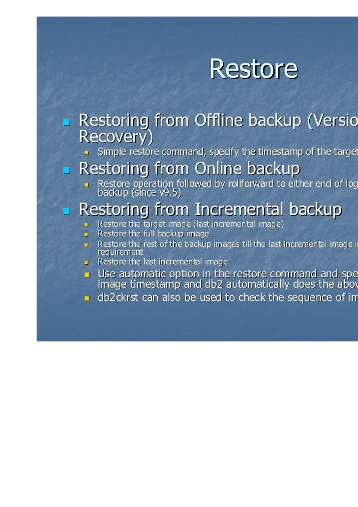IDUG : Forums : DB2 for z/OS BMC Image Copy