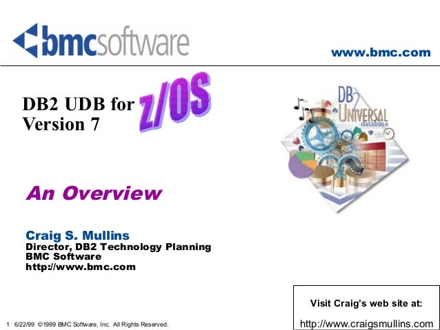 www.bmc.com 1 6/22/99 ©1999 BMC Software, Inc. All Rights Reserved. DB2 UDB for OS/390 Version 7 An Overview Craig S. Mull...
