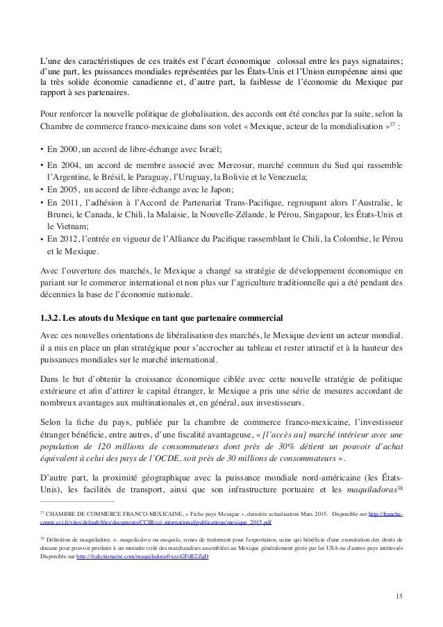 Tfe cpe paola campos sur l 39 impact des tle sur les droits - Chambre de commerce franco mexicaine ...