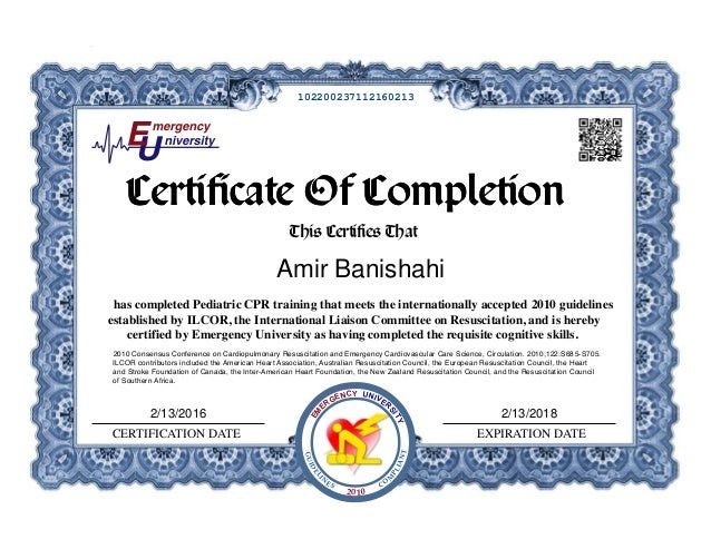 Child Cpr Certificate