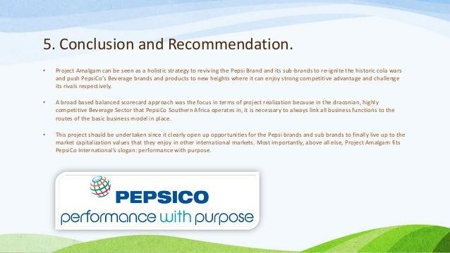 Pepsico balance scorecard - Research paper Example