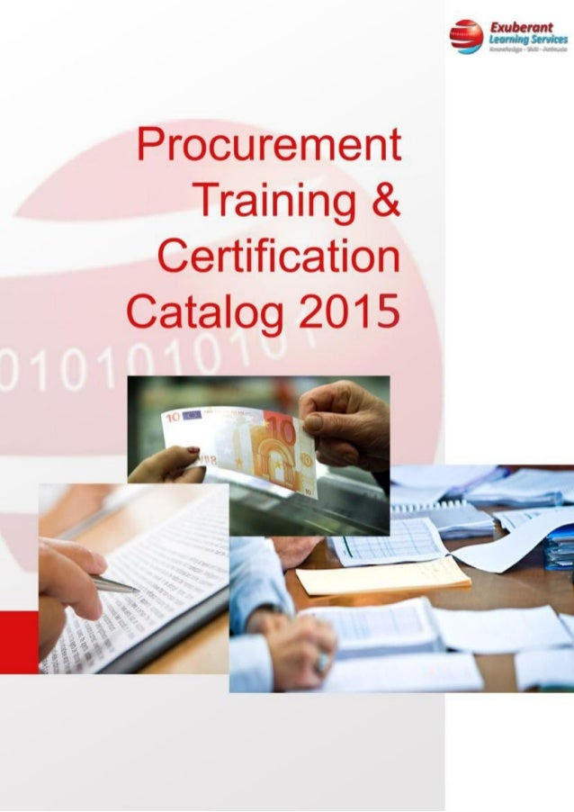3 Procurement Training And Certification Brochure 2015