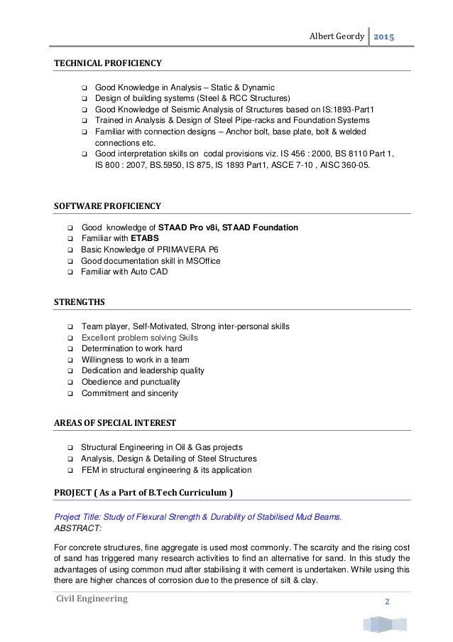 Resume - Albert Geordy