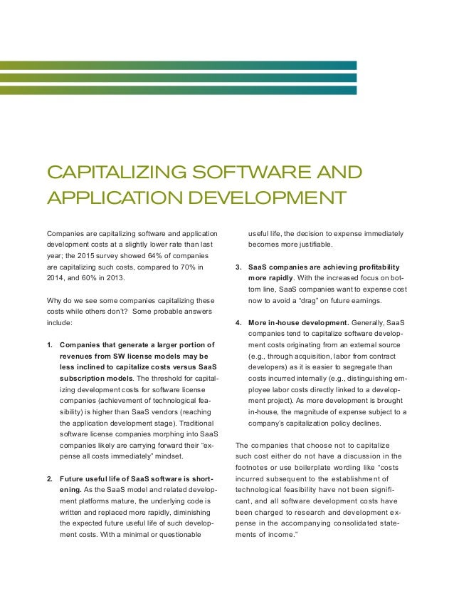 software capitalization Posts about software capitalization written by israelgat forrester research analysts dave west and tom grant just published their report on agile 2010here is the section in their report on managing technical debt.