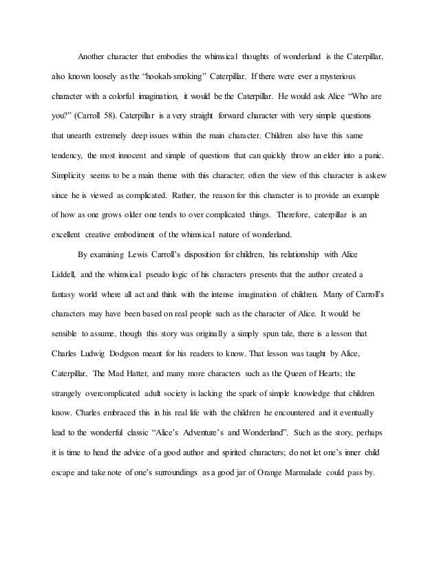 alices adventures in wonderland analysis essay