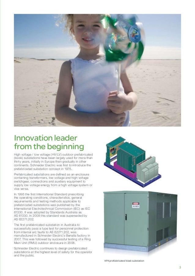 KPX prefabricated kiosk substation Innovationleader fromthebeginning High voltage / low voltage (HV/LV) outdoor prefabrica...
