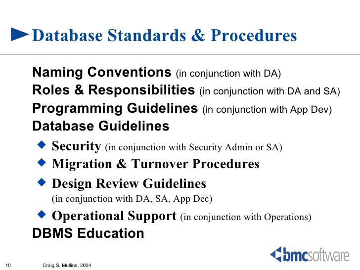 database standards - Database Design Guidelines