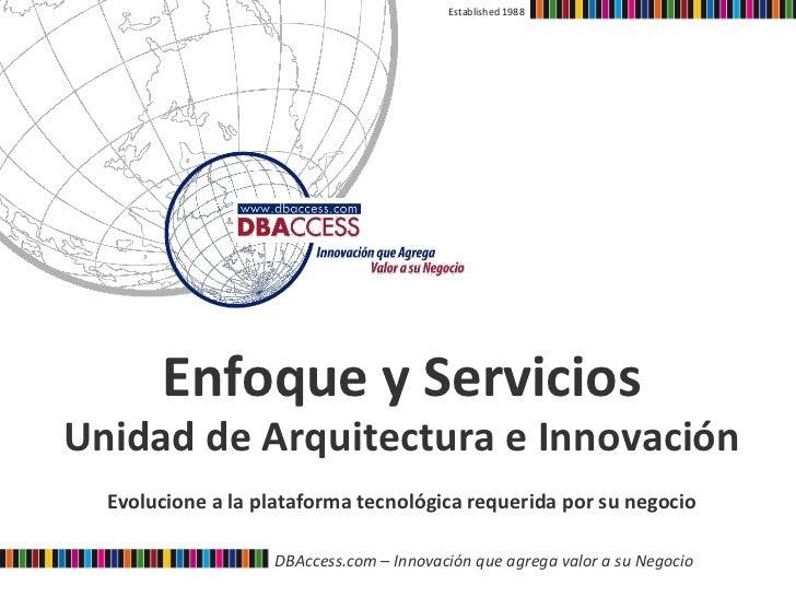 Established 1988            Enfoque y Servicios                                    Unidad de Arquitectura ...