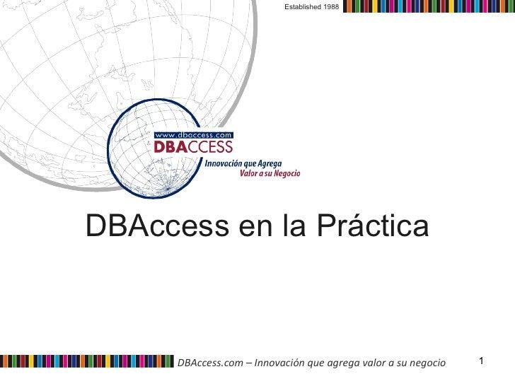 DBAccess en la Práctica Established 1988