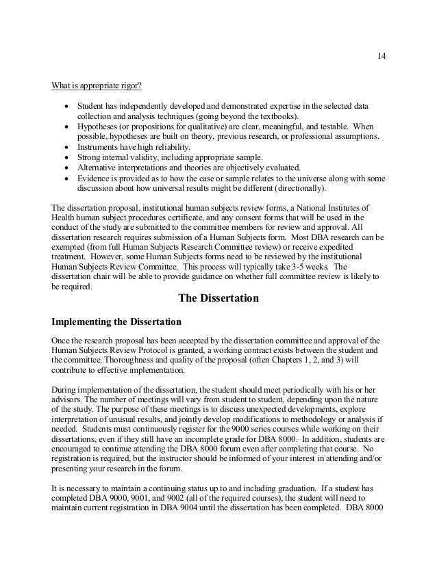 dba dissertation proposal Taft university's online doctor of business administration (dba) in the case of the dissertation, the proposal constitutes the framework for the.