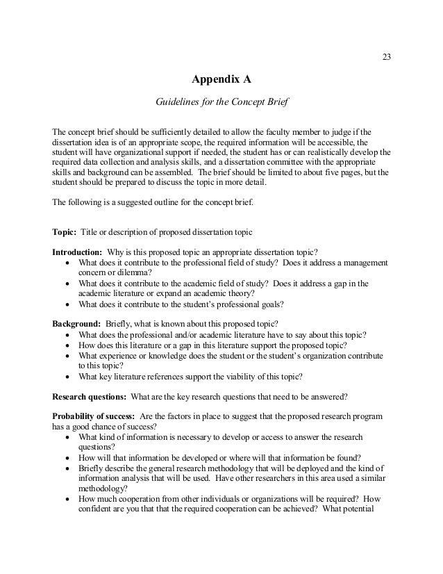 dba dissertation topics