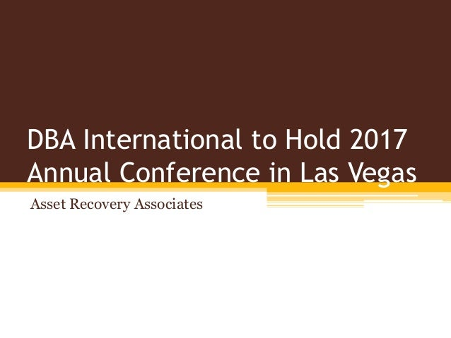 dba international to hold 2017 annual conference in las vegas