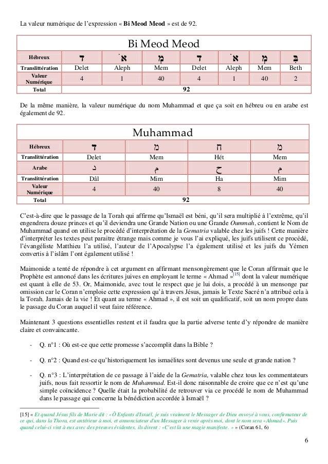 6 La valeur numérique de l'expression « Bi Meod Meod » est de 92. Bi Meod Meod Hébreux Translittération Delet Aleph Mem De...