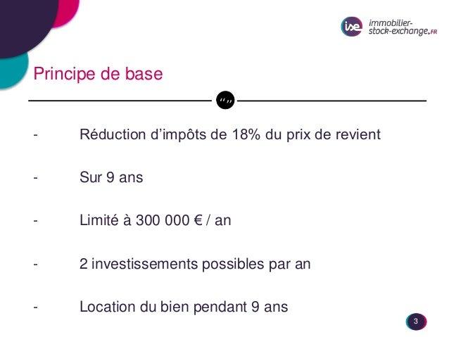 Débat Dispositif Duflot Immobilier Stock Exchange et Vestia Promotions Slide 3